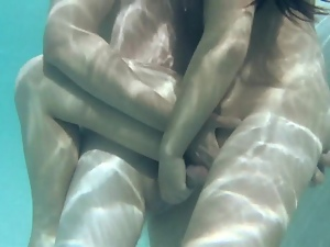 Hot massage and underwater sex