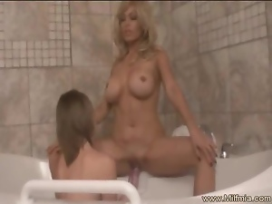 Lesbian Love Affair in the bath