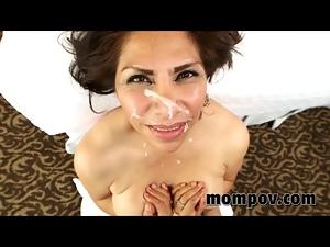 Big tits Spanish mature milf