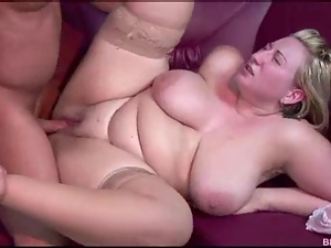 Chunky girl takes a basting