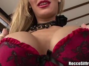 Rocco Siffredi Blown by British Babe With Big Tits