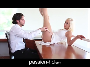 Passion-HD Hot Petite Blonde Gets Hot Creampie Finish
