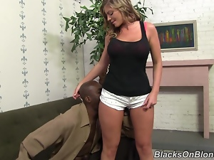 Monstrous cock invades blonde