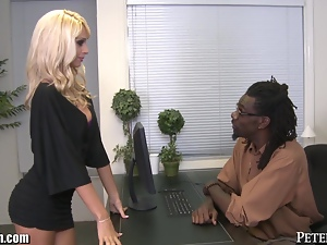 Erica Fontes Gets a Job Riding Big Black Dicks