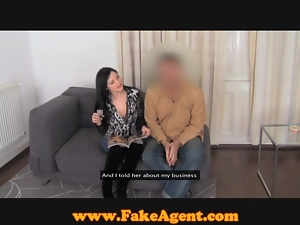 FakeAgent Huge natural tits in casting