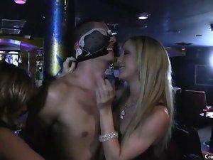 Handsome male stripper in wild CFNM reverse gangbang