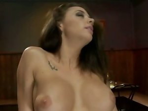 Busty milf pussy filled with toys