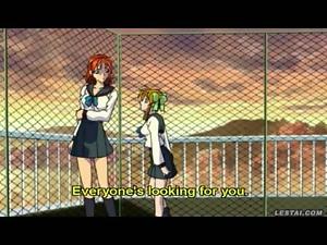 Lesbian hentai anime schoolgirls after class fun