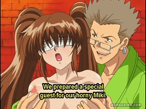 Blindfolded hentai anime busty babes spanking