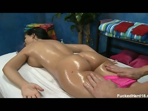 Rebeca Linares massaged and drilled