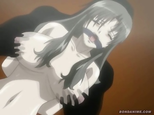 Hentai anime girl molested and gagged with cocks