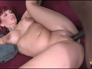 Son watches his mom nailed by nasty black hunk