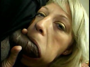 MILF gets a black and white cock  Pt 2/5