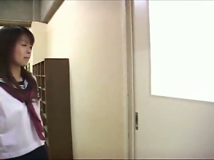 Asian Classroom Fuck and Creampie