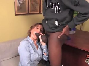 MILF secretary gets banged by a big cocked black