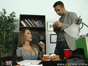 The boss is the one that fucks the busty milfs