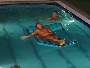 MILF in Pool Has A Watery Gang Bang Fun