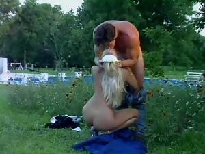 Hot Blonde Maid Gets An Outdoor Garden Fucking
