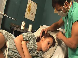 Cutie falls alseep at gynecologist visit!