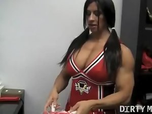 Angela Salvagno - Muscle Cheerleader 1