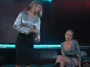 Sexy clothes on two chicks in a catfight