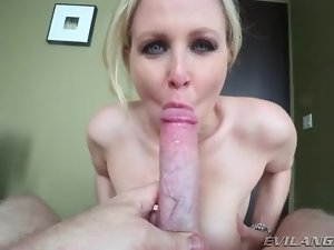 Julia Ann titjob turns him on lustily
