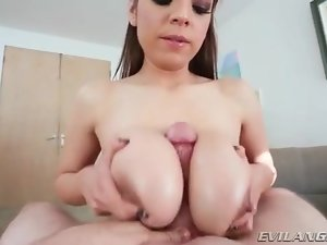 Slippery wet titjob from slut Yurizan Beltran