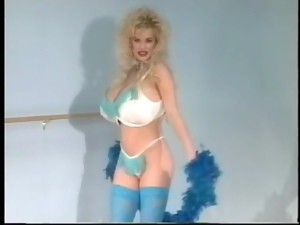 80s pornstar slut with gigantic fake tits