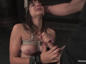Superb Bobbi Starr gets tied up and fucked in her wet pussy