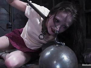 Hailey the ebony girl gets bounded and toyed deep