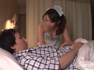 Hana Nonoka Hot Asian Looking Sex Getting Fucked in Her Corset and Panties