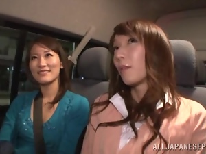 Threesome sex with sex japanese angels