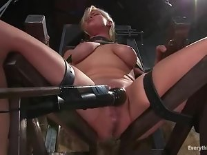 Fucking machine makes Lacey Jane want more pain
