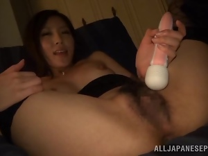 Hot masturbation video with a sassy Japanese angel Rin