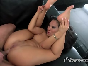 Cute Asian Asa Akira and Toni Ribas Wild Fucking Action