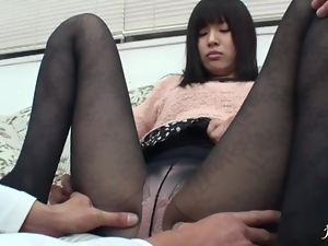 Nerdy Japanese slut gets her vag and ass kneaded indoors
