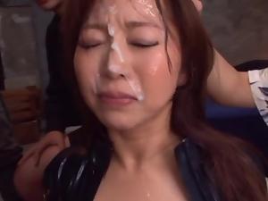 Mature Babe Kaori Sucks Dick For A Big Bukkake Facial