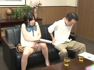 Crazy horny Asian chick gets it on with some random guy