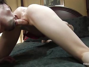 FUcking her boss in ass is an honor for a horny shemale Mandy