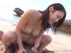 Lucky Kaede Niiyama gets a chance to suck and ride a BBC