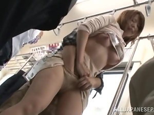 Sexy MILF Gets Fingered Up Her Skirt On Her Train Ride