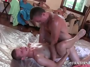 Gay students sucking and fucking dick