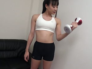 pussy vibrations finishes miho wakabayashi's workout