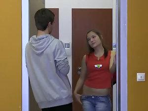 Pascalle screwing a peeking guy