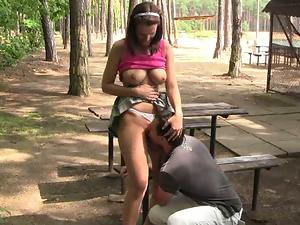 Rita fucking at the park