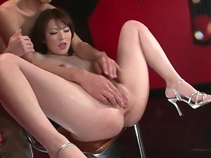 Fingering Japanese girl until she cums hard