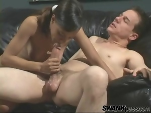 Young pussy fucked and tight asshole banged