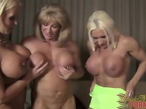 Muscular Women Threesome 1 of 3