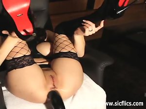 Fist her ass and sew her pussy shut