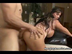 Big pornstar Indianna Jaymes tit fucked